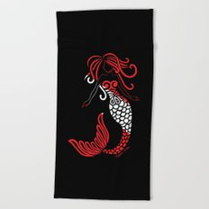 Tribal Scuba Flag Mermaid Beach Towel