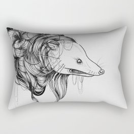 Possum Black Ink Drawing Rectangular Pillow