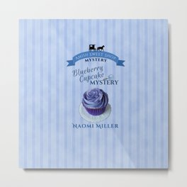 Blueberry Cupcake Mystery Metal Print