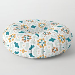 Geometric Pattern, oriental style (nature color set)  traditional morocco tile pattern Floor Pillow