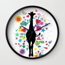 Giraffe World Wall Clock