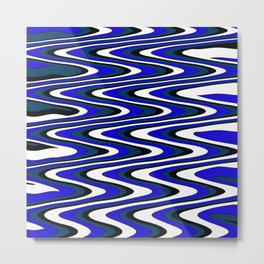 Monochromatic blue slur Metal Print