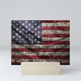 American flag Mini Art Print