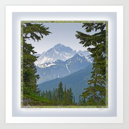 MOUNT LARRABEE FROM HEATHER MEADOWS Art Print