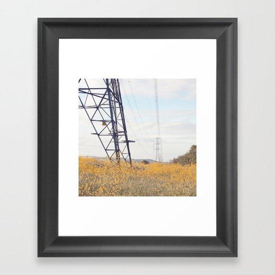 yellow lines... Framed Art Print