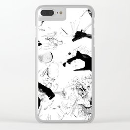 Dance between fate and free will Clear iPhone Case