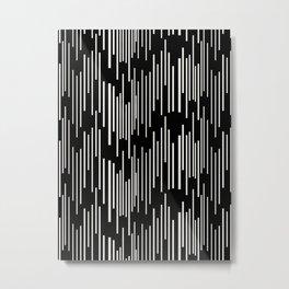 Linear Dash Metal Print