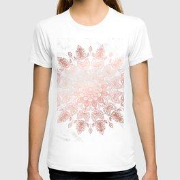 Dancing Mandala Rose Gold T-shirt