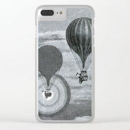 L'Atmosphère (Camille Flammarion) (1872) - A Balloon's Brocken Spectre Clear iPhone Case
