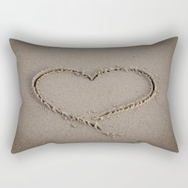 Heart Love Sand Rectangular Pillow