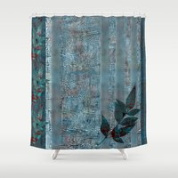 leaf Shower Curtains featuring Leaf by dominiquelandau