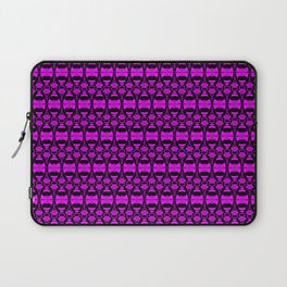 Dividers 02 in Purple over Black Laptop Sleeve