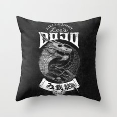 Double Dragon Dojo Throw Pillow