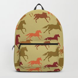 Prairie Horses Running Riding Equestrian Rider  Backpack