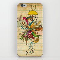 cthulu iPhone & iPod Skins featuring Notebook World by Duru Eksioglu