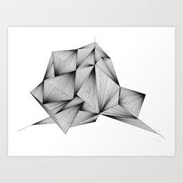 Structure (XYZ) Art Print