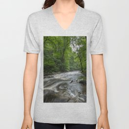 Appalachian Adventure - Ricketts Glen State Park Unisex V-Neck