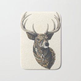 White-Tailed Deer (Color Version) Bath Mat