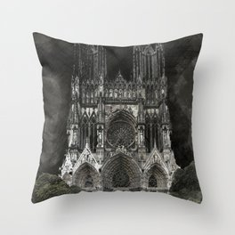 Cathedral Black Throw Pillow