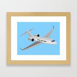 Commercial Jet Plane Airline Retro Framed Art Print