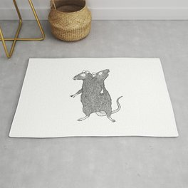 Two Headed Rat, I Love You Rug
