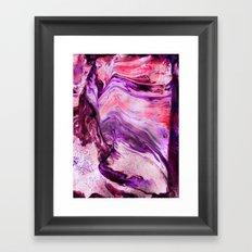 Marbled Garnet Framed Art Print