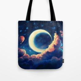 Balloon Moon Tote Bag