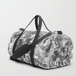 Brushstroke 3  black white Duffle Bag