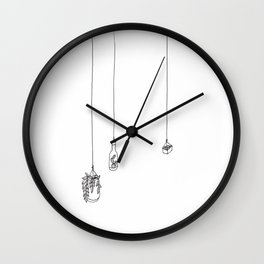 Hanging Plants Wall Clock