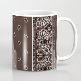 Classic Coffee Brown Bandana Coffee Mug