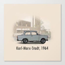 A Trabant in Karl-Marx-Stadt Canvas Print