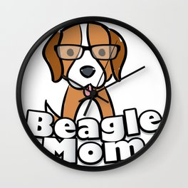 Beagle Mom Love Dog Mother's Day Gift Wall Clock