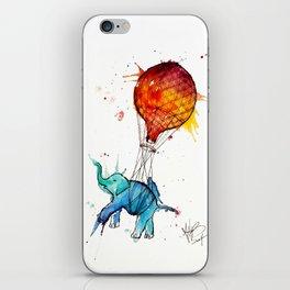 HOT AIR ELEPHANT iPhone Skin