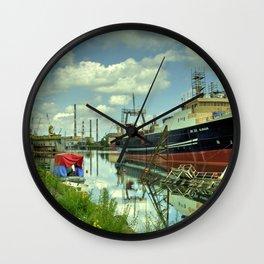 Blaengur  at Gdansk Shipyard Wall Clock
