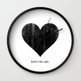 Beats for Love. Wall Clock
