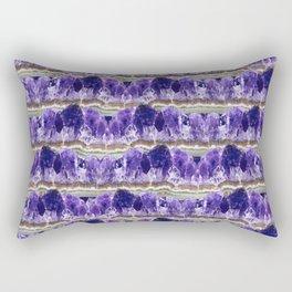 Purple Amethyst Geode Mountains Rectangular Pillow