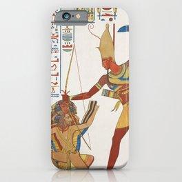 Vintage Egyptian gods artwork iPhone Case