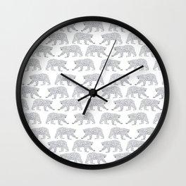 Polar Bears geometric trendy kids bear pattern print for boy or girl gender neutral Wall Clock