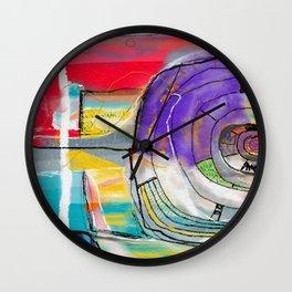 Abstract Summer Land Wall Clock