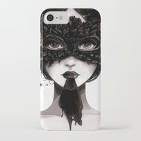 la iPhone & iPod Cases featuring La veuve affamee by Ludovic Jacqz
