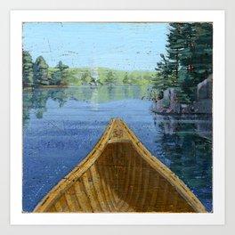 canoe bow Art Print