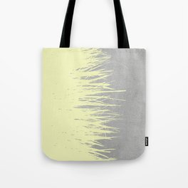 Concrete Fringe Yellow Tote Bag