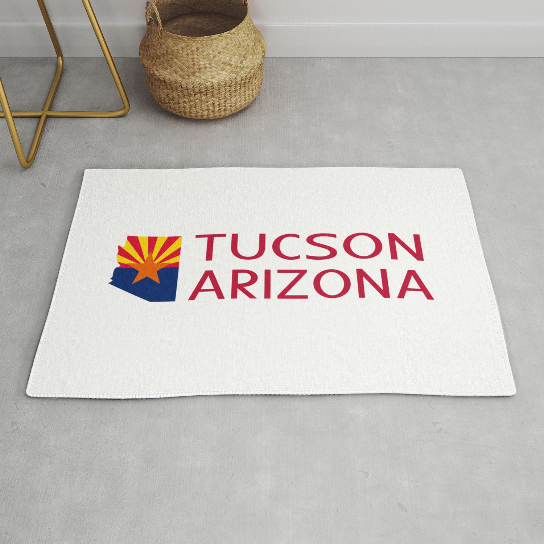 Arizona Tucson State Shape Flag Rug By Jsdavies Society6