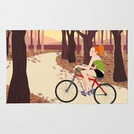 Bike Girl Rug