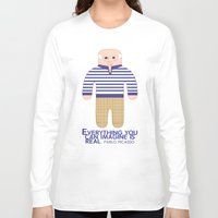 pablo picasso Long Sleeve T-shirts featuring Pablo Picasso by Late Greats by Chen Reichert