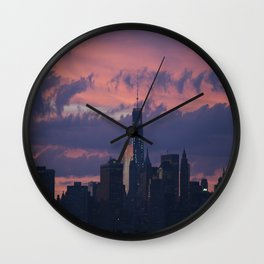 Sunset in NYC  Wall Clock