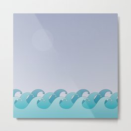 Waves in the Ocean Metal Print