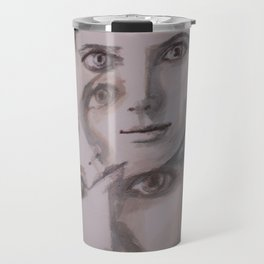 watercolor portrait of the Spirits in Her Head Travel Mug