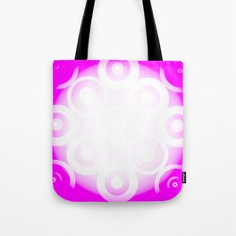 Circle Through White To Pink Tote Bag