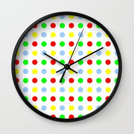 new polka dot 11 - multicolor Wall Clock